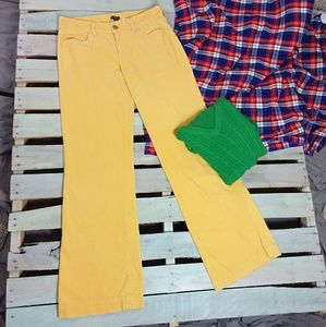 J. Crew Factory Corduroy Pants City Fit Yellow